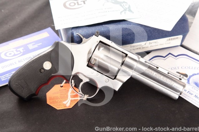 "Colt Anaconda .44 Magnum 4"" Stainless Revolver"