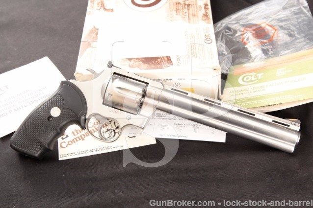 "Colt Anaconda .44 Magnum 8"" Stainless Revolver"