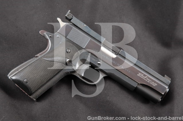 "Colt Clark CUSTOM MK IV Series '70 Government .45 Blue 5"" Single Action Semi-Automatic Pistol, 1974"