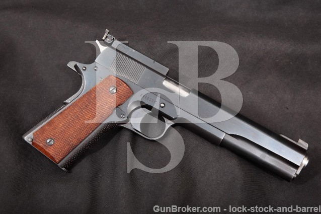 "Colt Clark Custom Long Slide 1911 Blue 6 1/4"" .45 SA Semi-Automatic Pistol, MFD 1963 C&R"