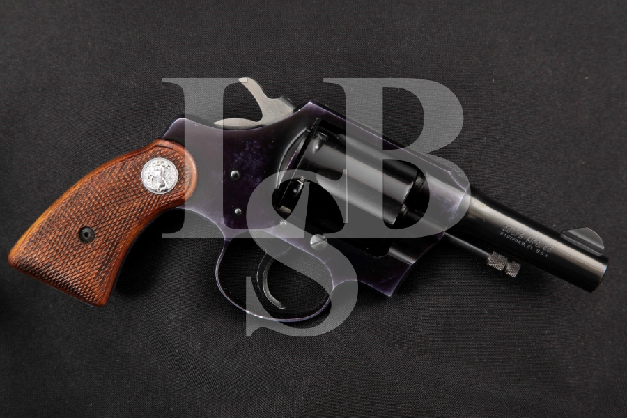 "Colt Courier Model, Blue & Black Alloy 3"" SCARCE Double Action Revolver, MFD 1954 C&R"