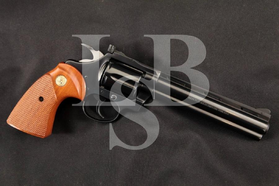 "Colt Diamondback Model, Sharp Blue 6"" 6-Shot Double Action DA/SA Revolver, MFD 1980"