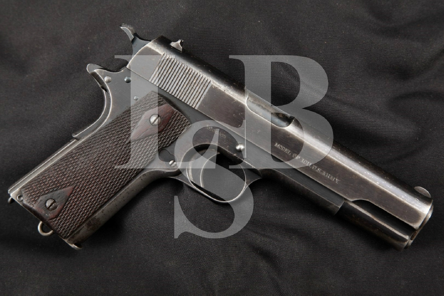 "Colt Early & Matching US ARMY Model of 1911, Blue 5"" Pre-WWI Semi-Automatic Pistol, MFD 1914 C&R"