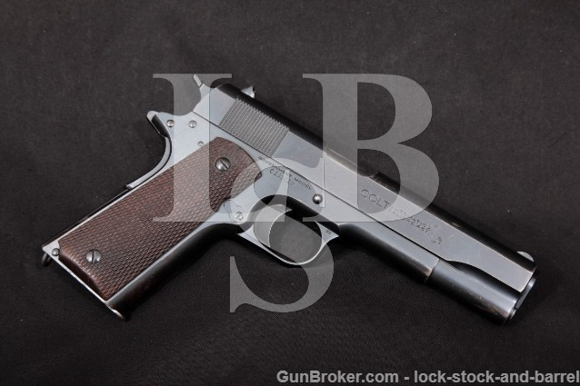 Colt Government Commercial Model 1911 Pre-War .45 ACP Semi-Automatic Pistol, MFD 1922 C&R