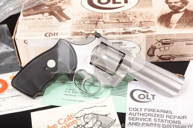 "Colt King Cobra AA3040 Stainless 4"" SA/DA Double Action Revolver & Box 1992 .357 Magnum"