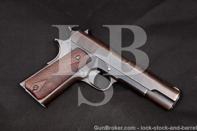 "Colt Kongsberg Early Post-War Norwegian M1914 1911 11.25mm .45 ACP 5"" Semi-Automatic Pistol 1945 C&R"