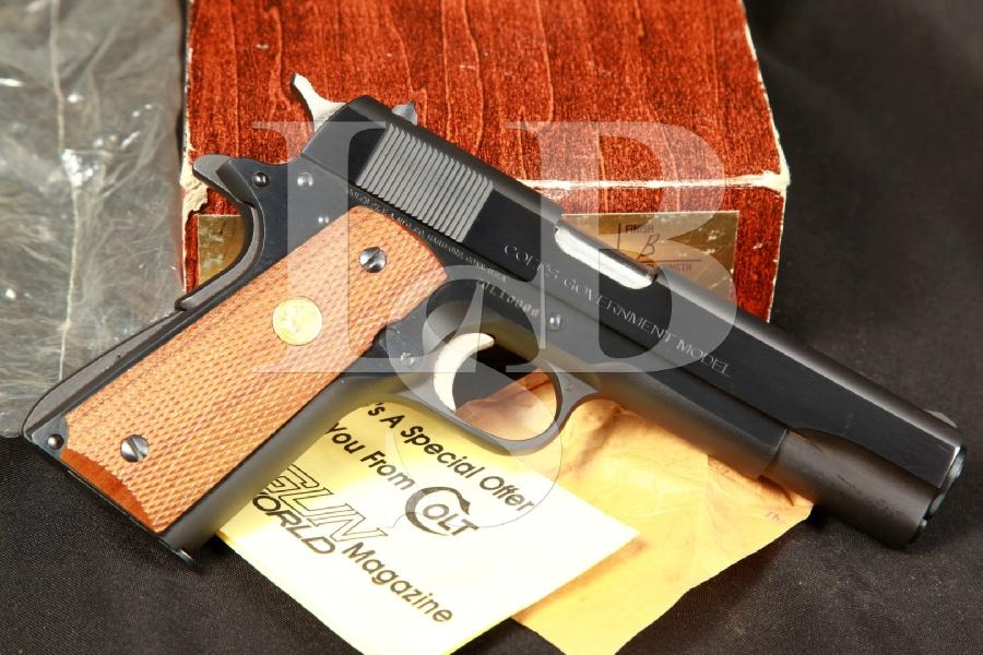 Colt MK IV Series 70 Government Model 1911 5 Blue Semi-Automatic Pistol & Box, MFD 1976
