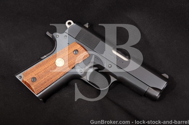 "Colt MK IV Series 80 Officer's ACP, Blue 3 1./2"" Single Action Semi-Automatic Pistol, 1987 .45 ACP"