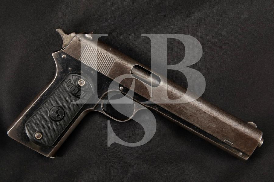 "Colt Military Model of 1902, Scarce Blue 6"" Long Slide Semi-Automatic Pistol, MFD 1914 C&R"