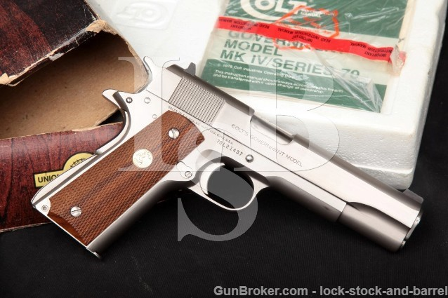 Colt Mk Iv Series 70 Government 1911, Nickel 5