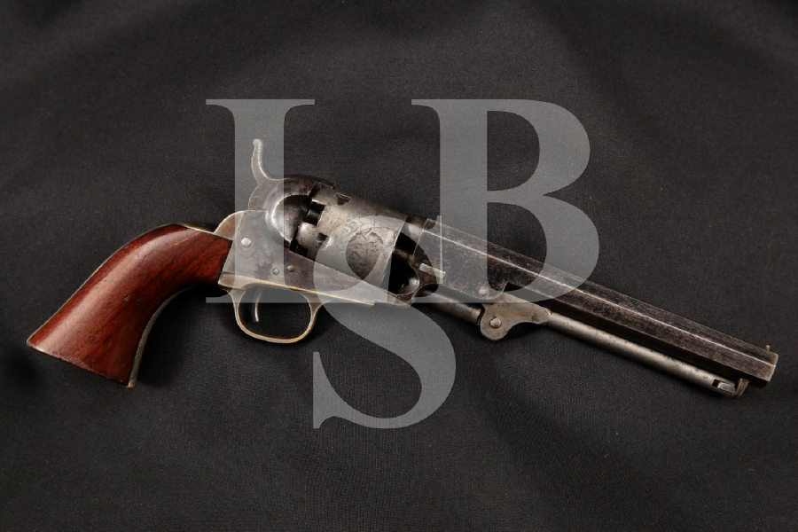 "Colt Model 1849 M1849 Pocket, Pre-Civil War, Blue Case & Silver Plated 6"" Single Action Percussion Revolver MFD 1856 Antique"