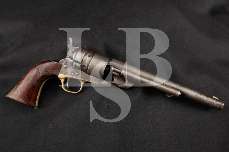 "Colt Model 1860 Army Richards Conversion, Blue & Case Colored 8"" SA Single Action Revolver, MFD 1873 Antique"