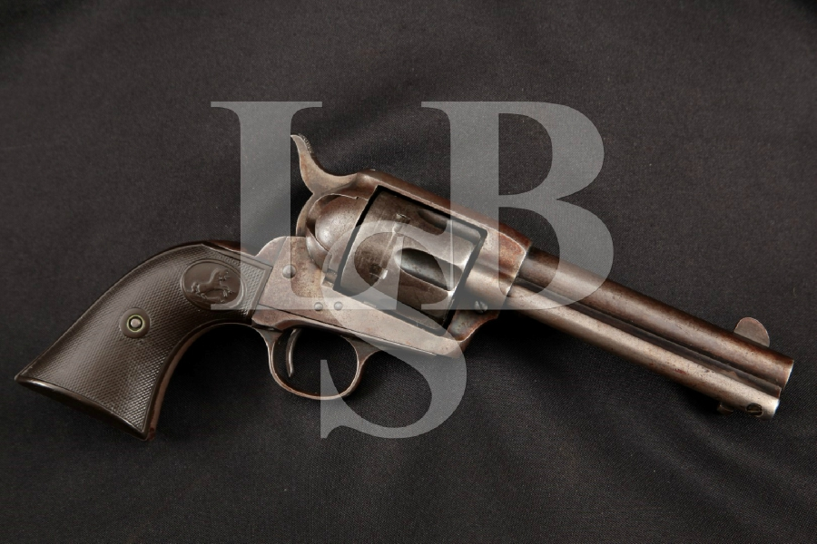 "Colt Model 1873 S.A.A. SAA 1st Generation, Early Smokeless, Blue & Case Colored 4 3/4"" 6-Shot, Single Action Army Revolver, MFD 1900 C&R"
