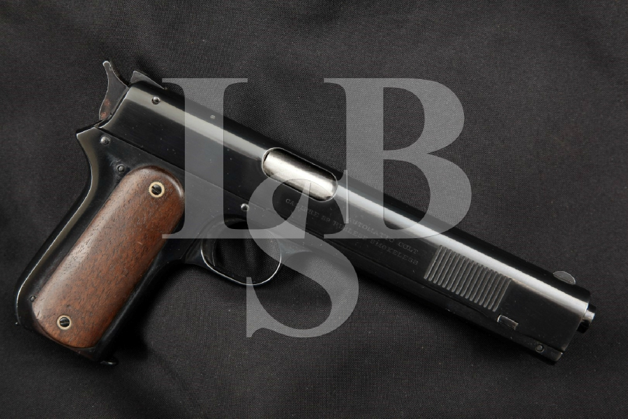 Colt Model 1900 Unaltered Sight Safety, Restored Blue 6 'Long Slide' Semi-Automatic Pistol, MFD 1902 C&R