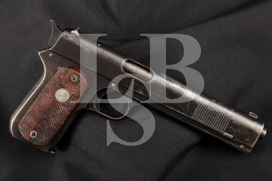 "Colt Model 1902 Sporting Pistol, Long Slide, Blue 6"" Early Semi-Automatic Pistol, MFD 1903 C&R"
