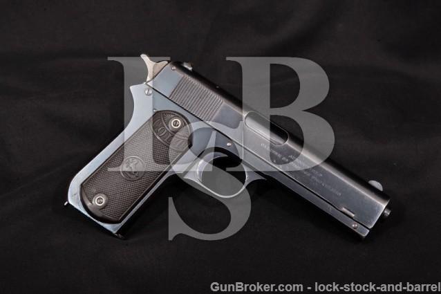 Colt Model 1903 Pocket Hammer Pistol, MFD 1914 C&R Semi-Auto Pistol, Spur Hammer, Blue, .38 ACP