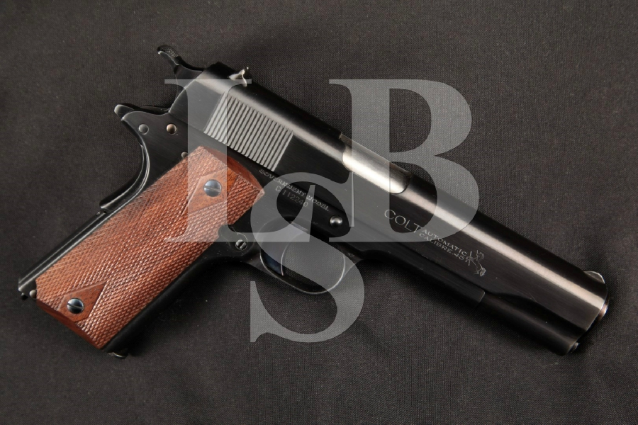 """Colt Model 1911 M1911 Commercial Production Government Model, Post-WWI Blue 5"""" SA Semi-Automatic Military Pistol, MFD 1919 C&R"""