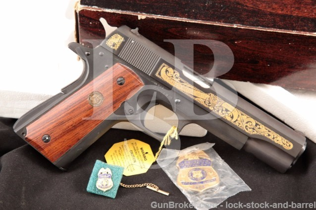 Colt Model 1911A1 U.S. Customs Special Agent .45 Series 70 Government Model Pistol & Box, USC 404