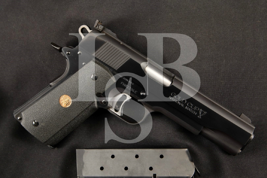 "Colt Model MK IV Mark 4 Series 80 Gold Cup National Match + 2 Magazines, Blue 5"" SA Semi-Automatic Pistol, MFD 1984 ATF C&R"