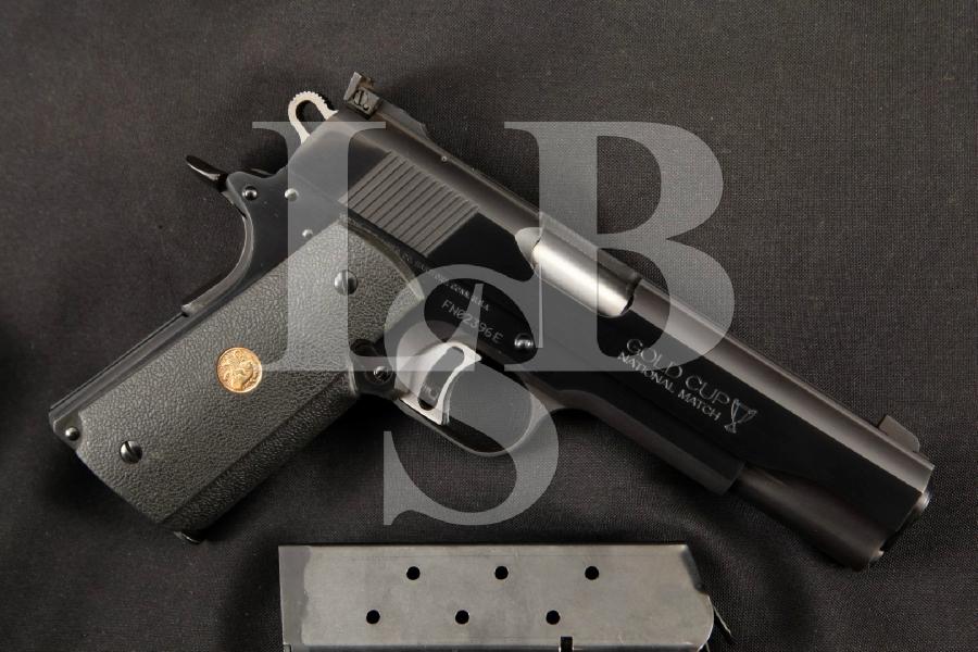 "Colt Model MK IV Mark 4 Series 80 Gold Cup National Match + 2 Magazines, Blue 5"" SA Semi-Automatic Pistol, MFD 1984 ATF C&R"
