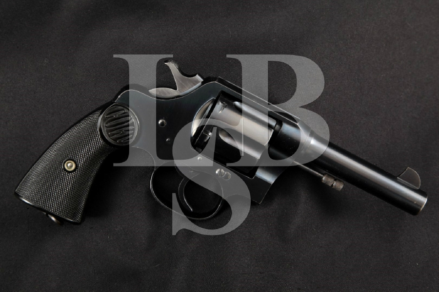 "Colt Model New Service, Originally Shipped to California, Blue, 4 ½"" DA/SA Double Action Revolver, MFD 1922 C&R"
