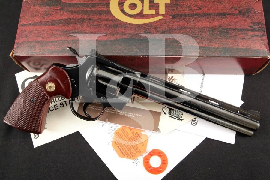 "Colt Model Python (Catalog No. I3680), Blue 8"" -- 6-Shot Double Action Revolver & Box, MFD 1981"