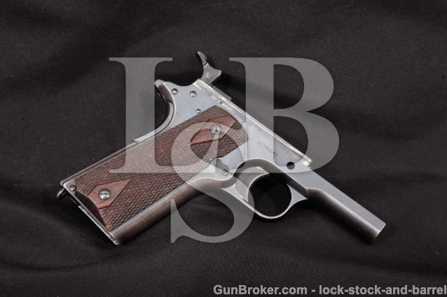 Colt Model of 1911 U.S. Army WWI 1917, Frame Only Blue Semi-Automatic Military Pistol, ATF Modern