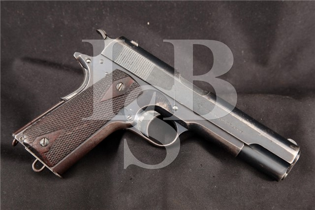 Colt Model of 1911 US Army .45 ACP Shipped 1912 12/6/1912 - Commanding Officer Augusta Arsenal