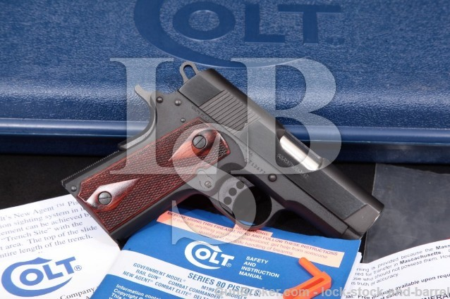 "Colt New Agent Lightweight O7810D, Pistol & Box Blue & Black 3"" Semi-Automatic, 2014 .45 ACP"