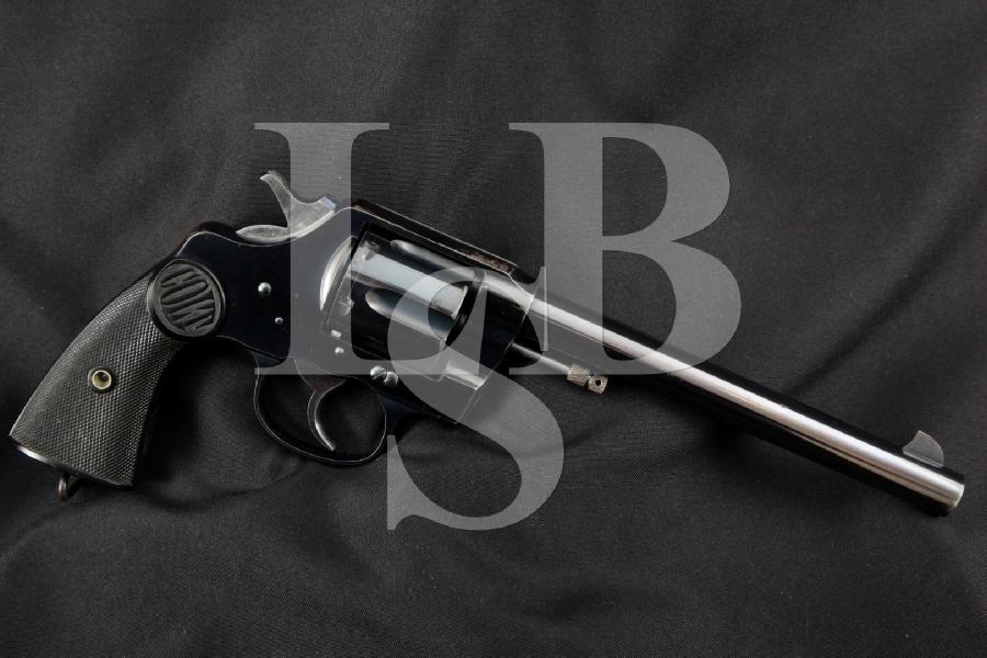"""Colt New Service Model, Pre-WWI Production, Blue 7 ½"""" SHARP Double Action DA/SA Revolver, MFD 1907 C&R"""