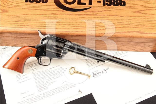 """Colt S.A.A. SAA 3rd Generation Factory Engraved 150th Anniversary Buntline 10"""" SA Revolver & Case"""