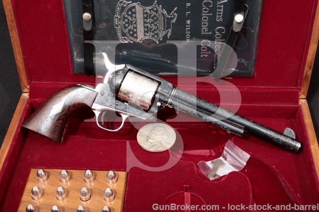 "Colt Sam Sesquicentennial Special Deluxe .45 Colt 1 of 50 Blue & Silver 7 1/2"" SAA Revolver 1964 C&R"