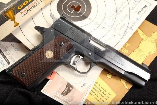 Colt Series 70 1911 National Match Gold Cup .38 MR .38 Special Mid- Range & Box - 1970's