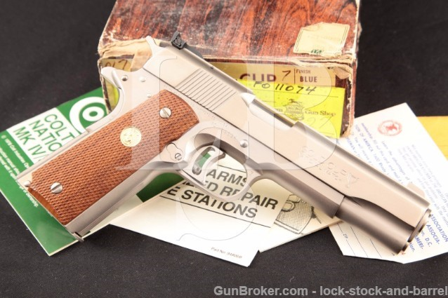Colt Series '70 e-Nickel Gold Cup National Match RARE Electroless Nickel 1911A1 & Box, C&R
