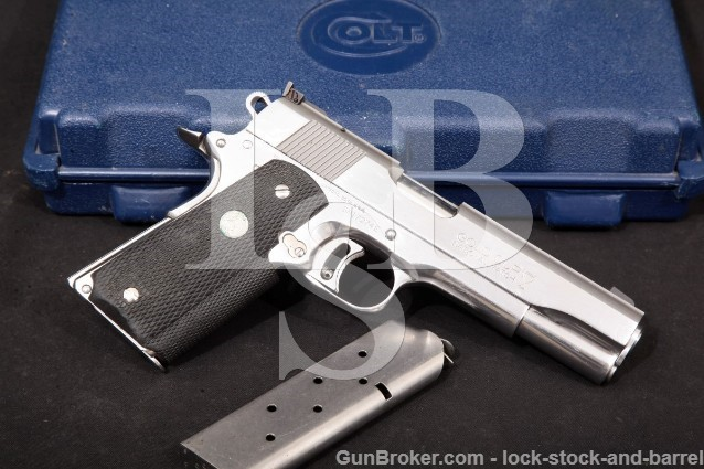 Colt Series '80 MKIV Gold Cup National Match & Box Enhanced Stainless Pistol & Box, 1995 .45 ACP C&R