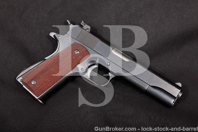 "Colt Service Model Ace, Blue 5"" .22 LR Rimfire SA Semi Automatic Target Pistol 1941 C&R"