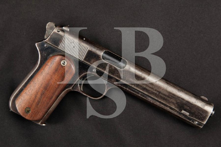 "Colt Sporting Model of 1902, Rare Blue 6"" Long Slide Semi-Automatic Pistol, MFD 1904 C&R"