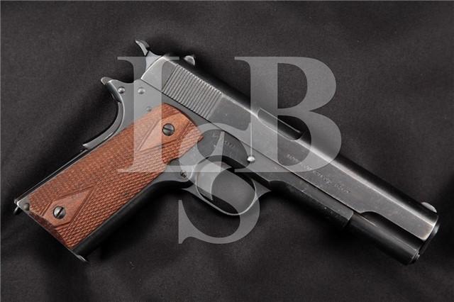 Colt / Springfield Armory 1911 RARE SN#129477 WWI Semi-Automatic Pistol, MFD 1916 – 1924 C&R