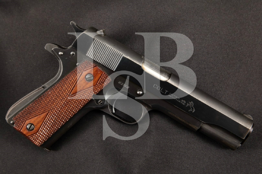 "Colt Super .38 Automatic 2nd Model 1911A1 1911-A1, Blue 5"" Post-WWII SA Semi-Automatic Pistol, MFD 1947 C&R"