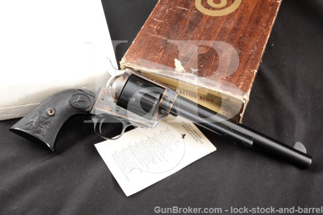 "Colt Third 3rd Gen SAA Single Action Army 7.5"" .45 Blue & Case Color SA Revolver & Box, 1976 1st YEAR"