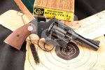 Colt Three-Fifty-Seven .357 Magnum, Blue 4 INCH Double Action Revolver, Box & Paperwork, MFD 1960 C&R