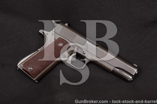 "Colt WWII Model 1911-A1 1911A1 MFD 1943, C&R Parkerized 5"" Semi-Auto, U.S. Army Pistol .45 ACP"
