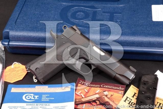 Colt Wiley Clapp .45 Lightweight Commander 04840WC 1911 Model Semi-Automatic Pistol & Box, MFD 2013