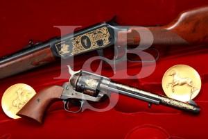 Colt-Winchester Commemorative Single Action Army & 1894 SRC Set, MFD 1985 & Set