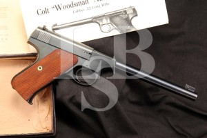 Colt Woodsman 1st Series .22 LR Target Model Semi Auto Pistol & Box - MFD 1941 C&R