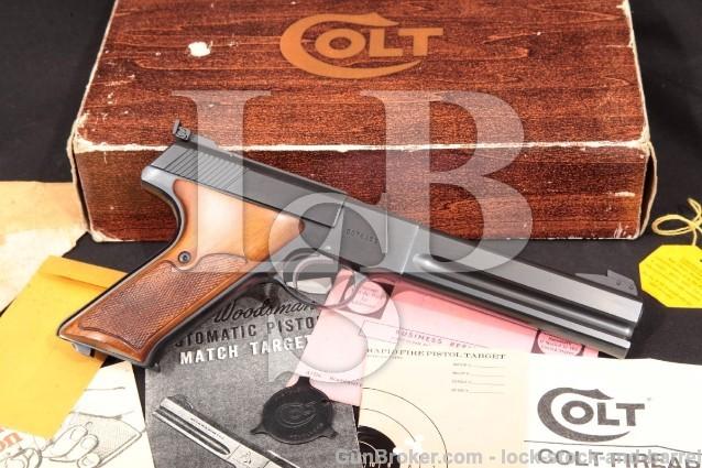 """Colt Woodsman Match Target 3rd Series & Box C&R Blue 6"""" Semi-Auto Rimfire Pistol, MFD 1969 .22 LR"""