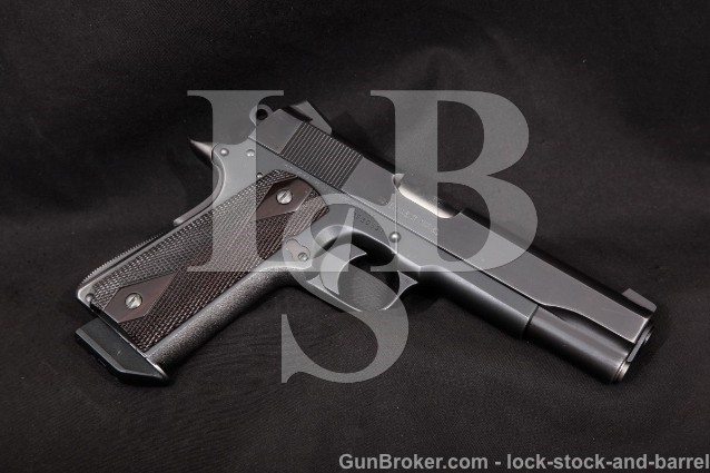 "Custom Colt Delta Elite, Blue 5"" SA Single Action Semi-Automatic Pistol, MFD 1989 10mm"