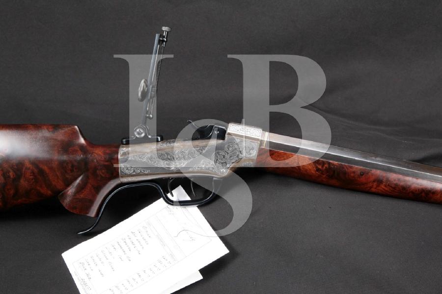 "Custom Eugene Koevenig Engraved Marlin Ballard No.3 Gallery Schuetzen, 27 ½"" Rifle & Double Set Triggers, MFD ca. 1880 Antique"