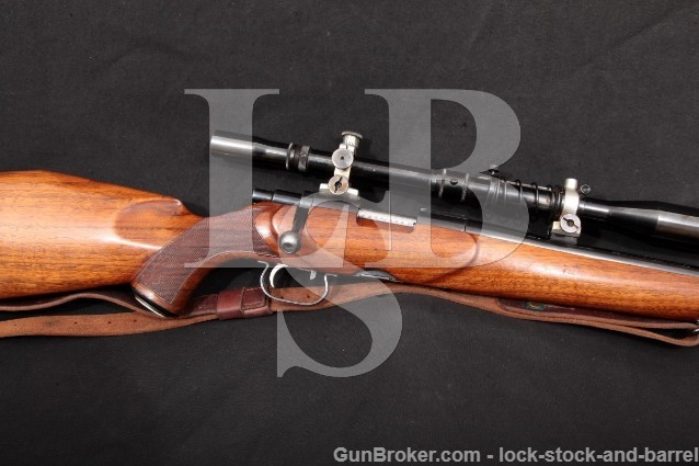 "Custom Sako L46 L-46 Winchester 70 .22 Hornet Bbl 22.5"" Bolt Action Rifle & Fecker Scope 1946-62 C&R"