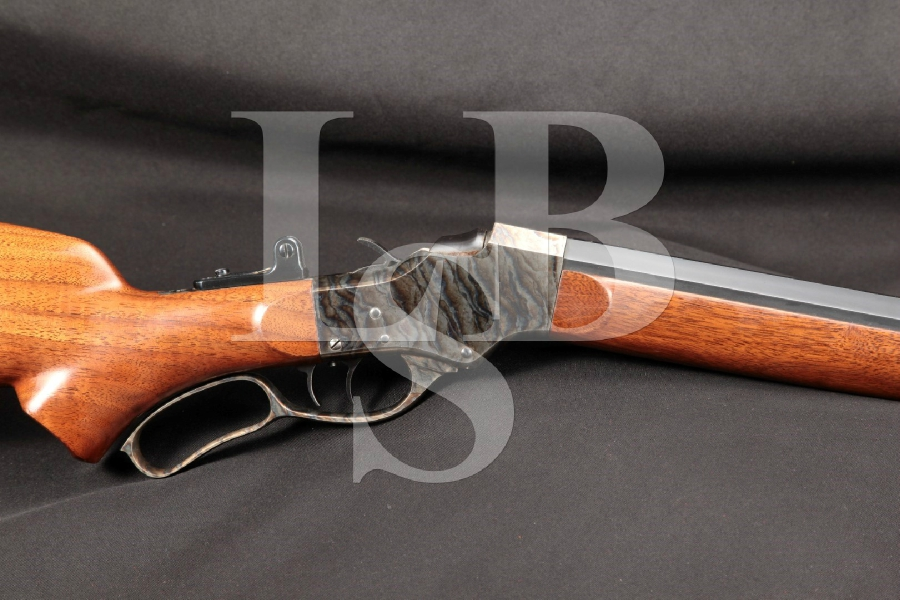 "Custom Stevens, CPA, Paul Shuttleworth No. 44 ½ Low Wall Falling Block Blue & Case Colored 28"" Lever Action Single Shot Target Rifle"